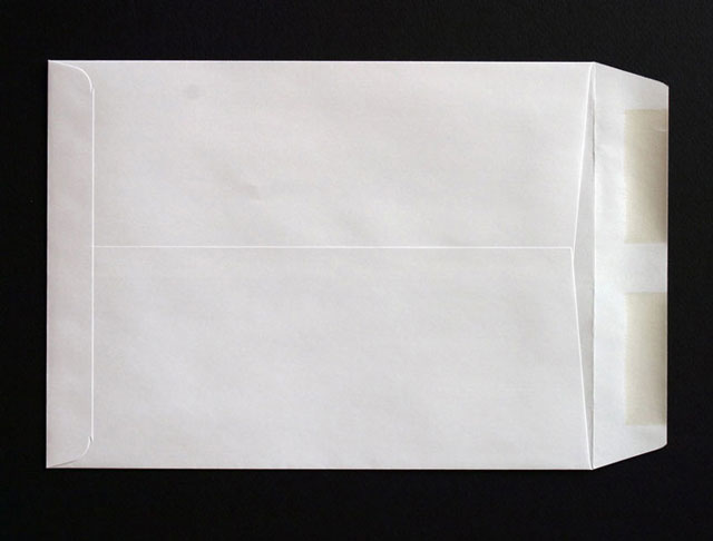 Catalog envelope back
